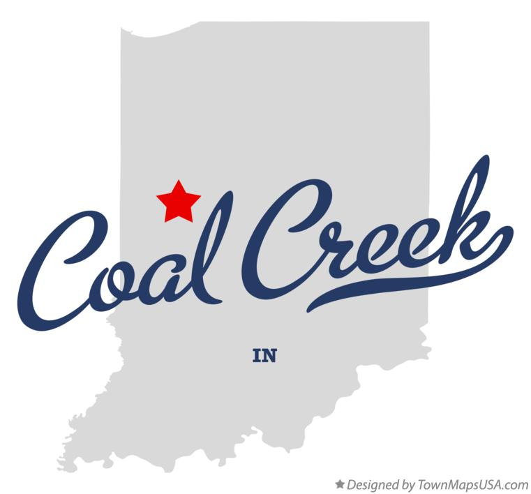 Map of Coal Creek Indiana IN