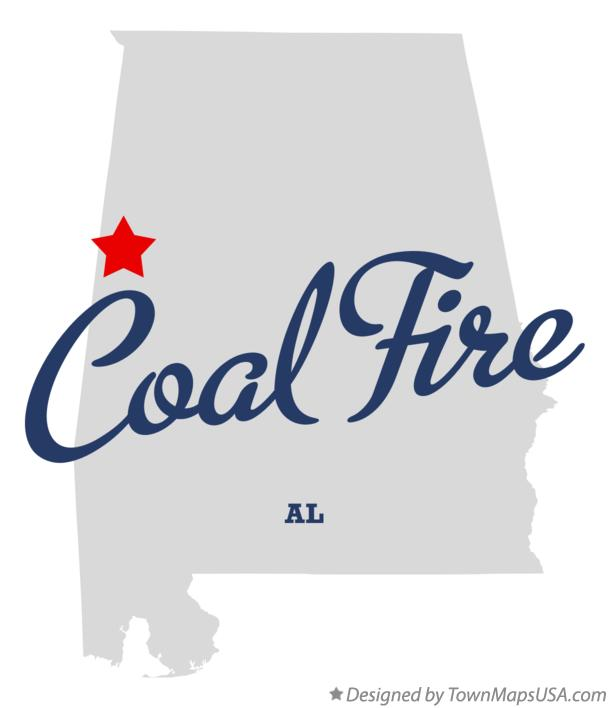 Map of Coal Fire Alabama AL
