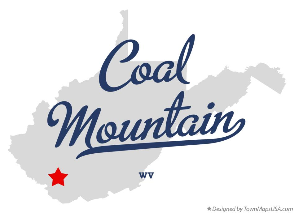 Map of Coal Mountain West Virginia WV