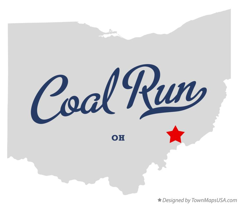 Map of Coal Run Ohio OH