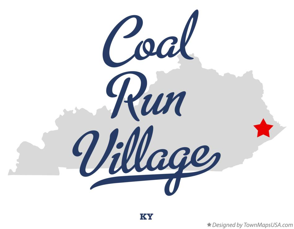 Map of Coal Run Village Kentucky KY
