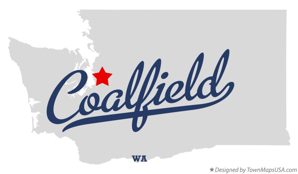 Map of Coalfield Washington WA