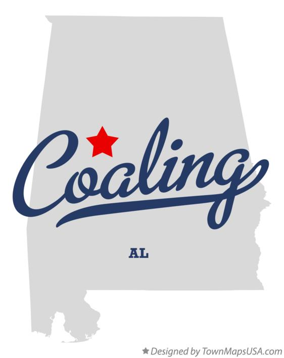 Map of Coaling Alabama AL