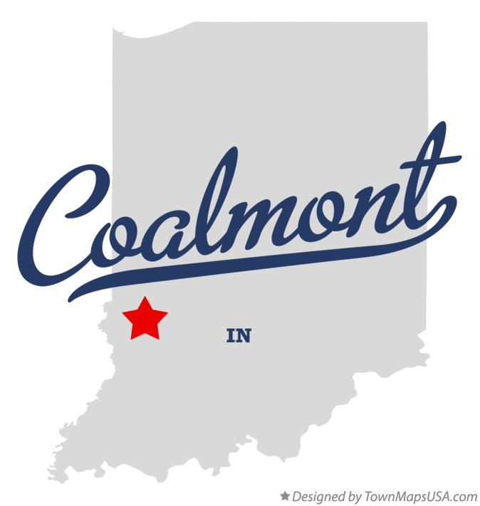 Map of Coalmont Indiana IN