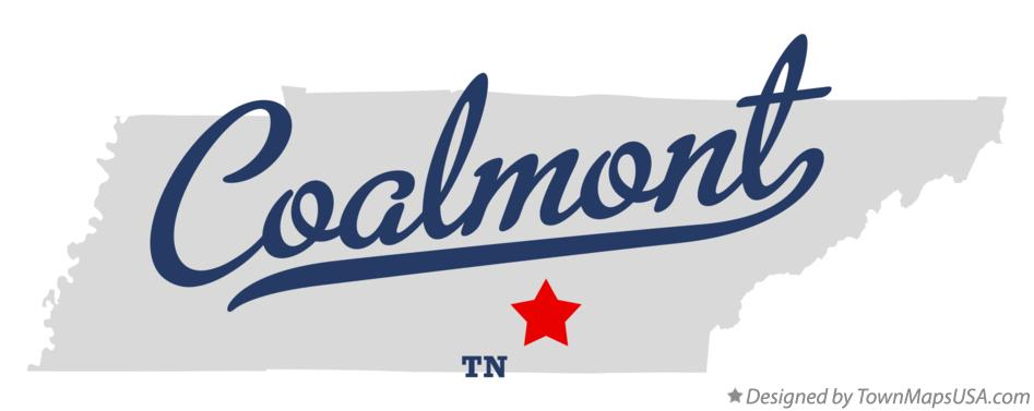 Map of Coalmont Tennessee TN