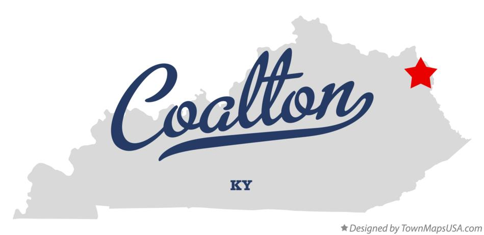 Map of Coalton Kentucky KY