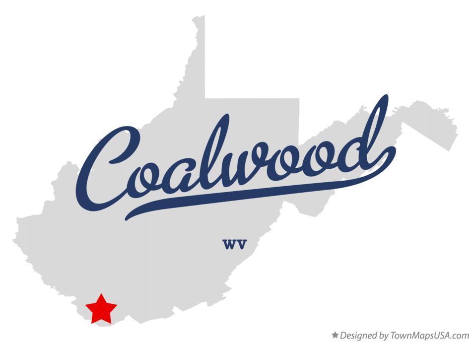 Coalwood West Virginia Map.Map Of Coalwood Wv West Virginia