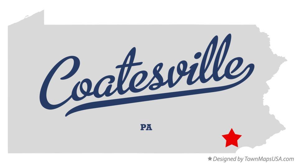Map Of Coatesville Pa Pennsylvania