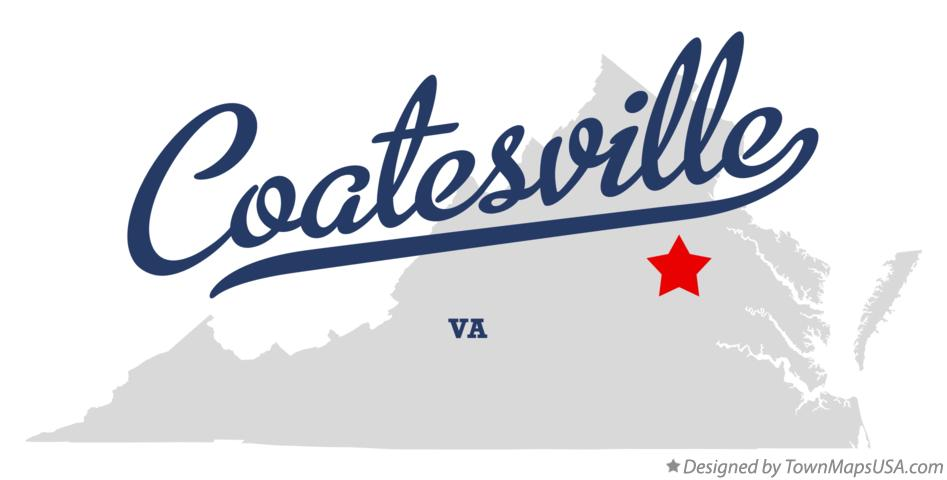 Map of Coatesville Virginia VA