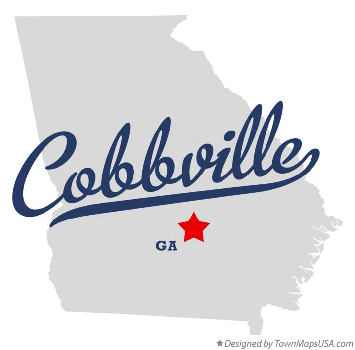 Map of Cobbville Georgia GA