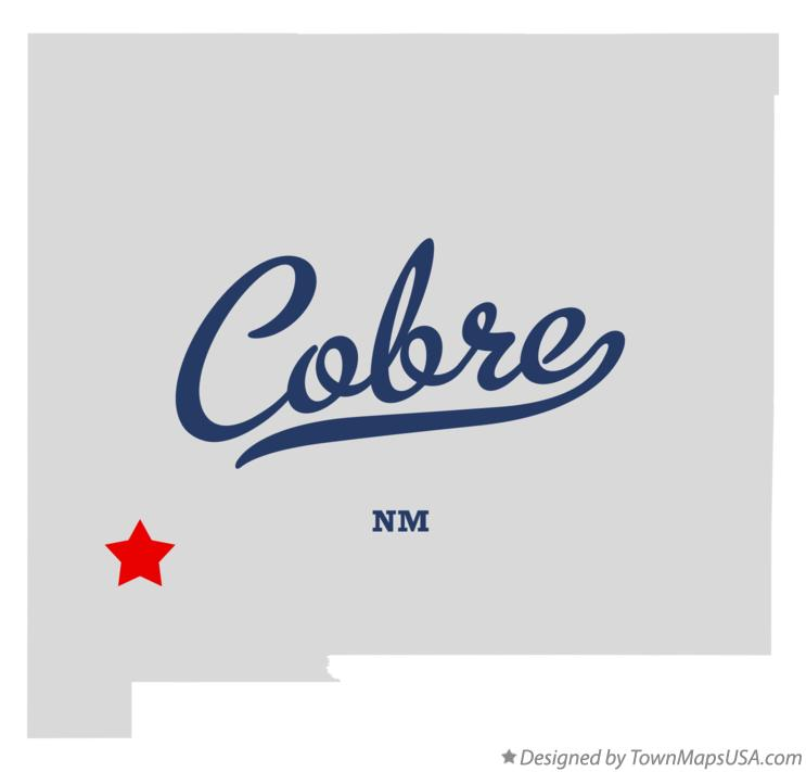 Map of Cobre New Mexico NM
