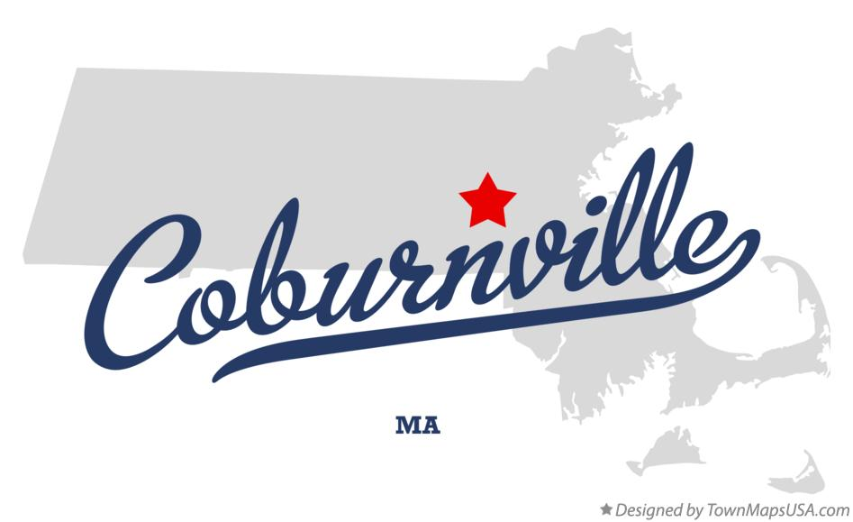 Map of Coburnville Massachusetts MA