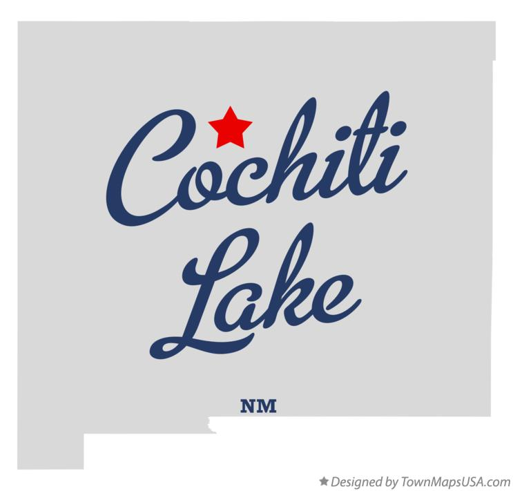 Map of Cochiti Lake New Mexico NM