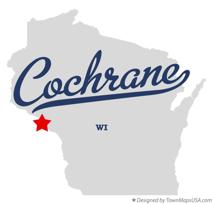 Map of Cochrane Wisconsin WI
