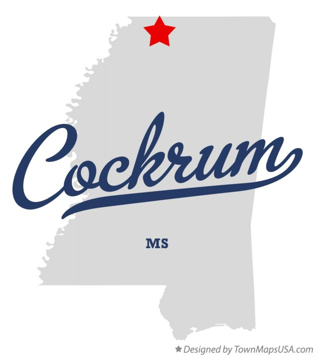 Map of Cockrum Mississippi MS