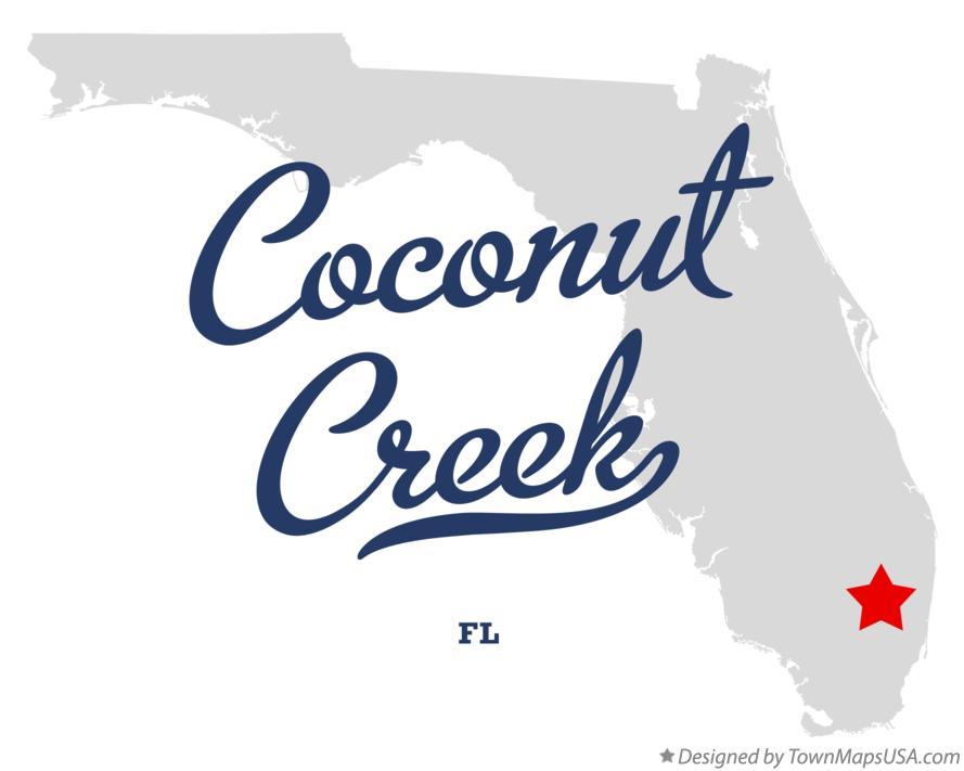 Map of Coconut Creek FL Florida