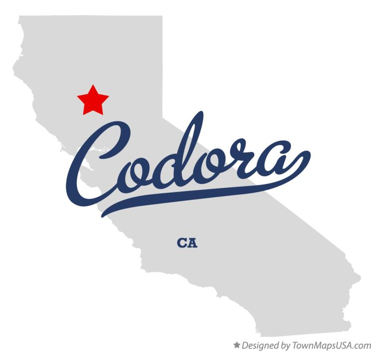Map of Codora California CA