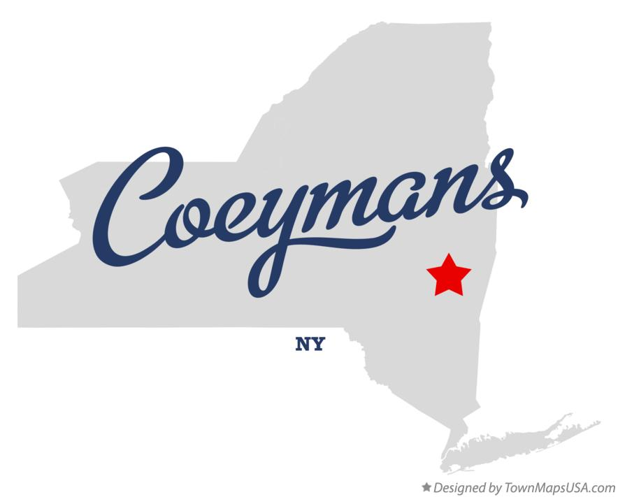 Map of Coeymans New York NY