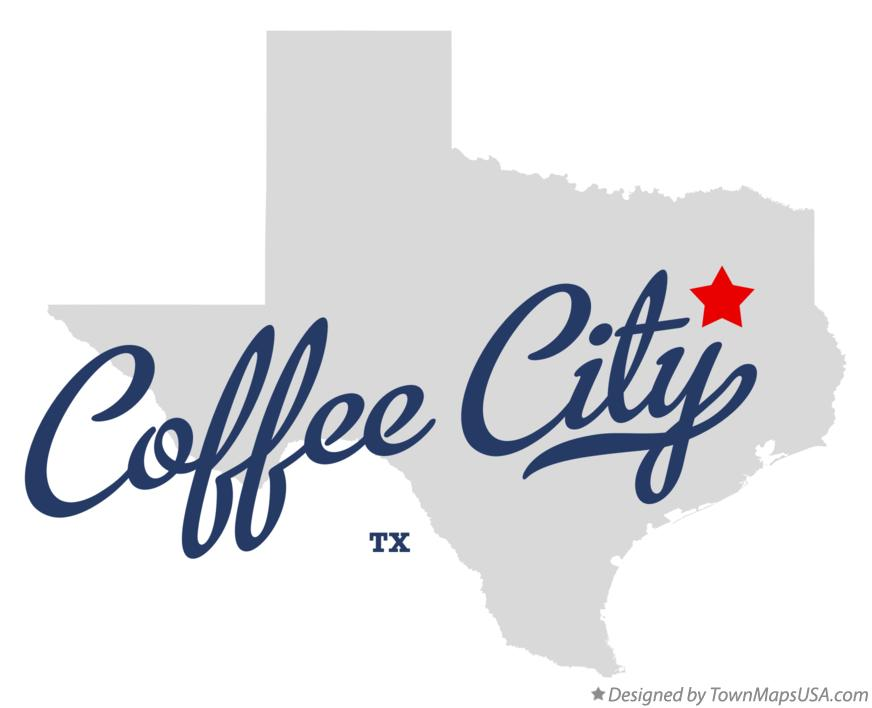 Map of Coffee City Texas TX