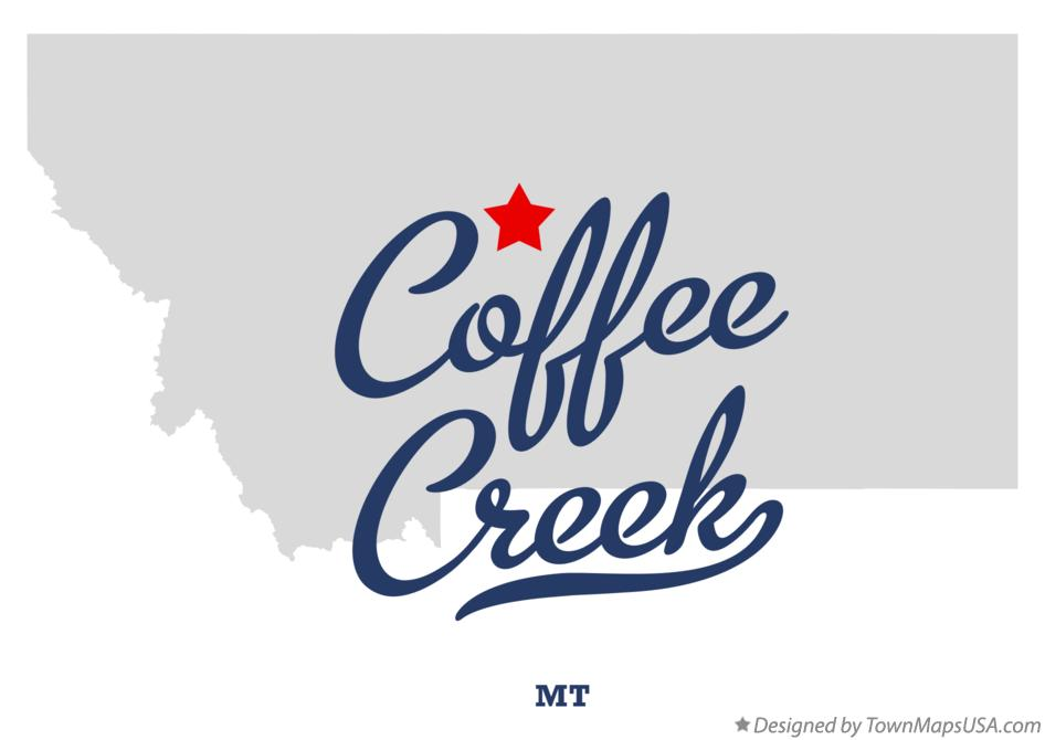 Map of Coffee Creek Montana MT