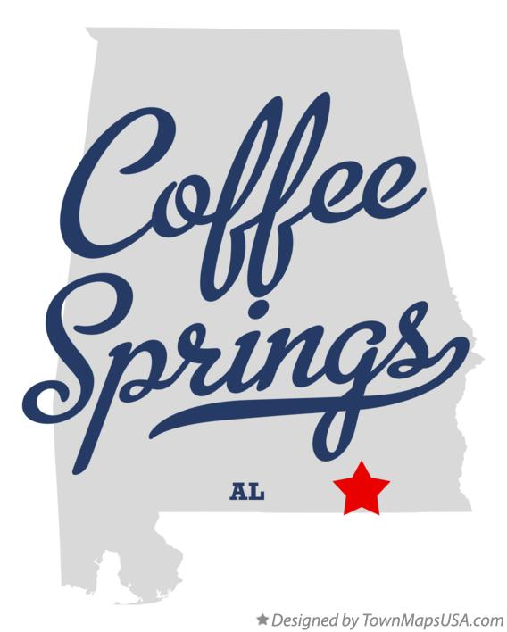 Map of Coffee Springs Alabama AL