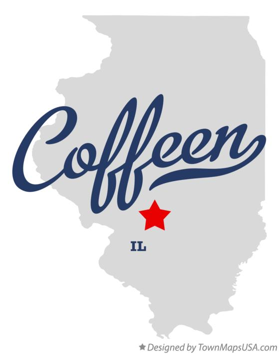 Map of Coffeen Illinois IL