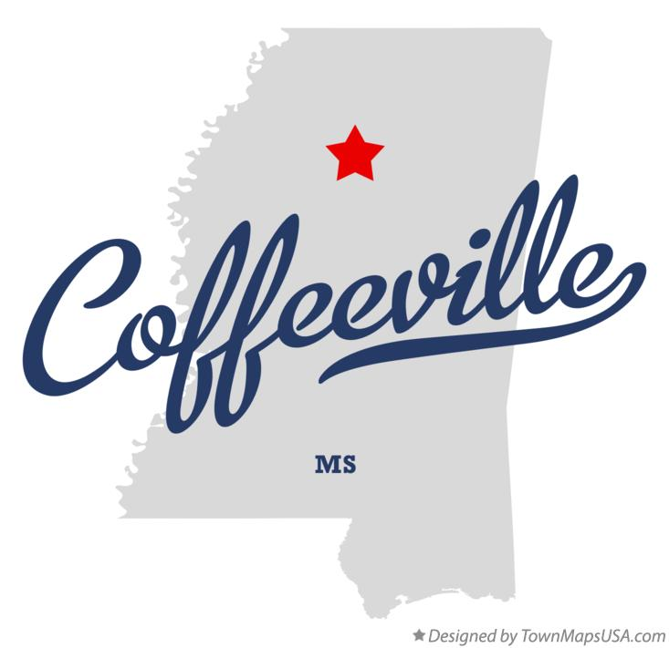 Map of Coffeeville Mississippi MS