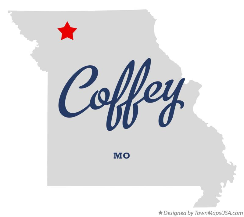 Map of Coffey Missouri MO