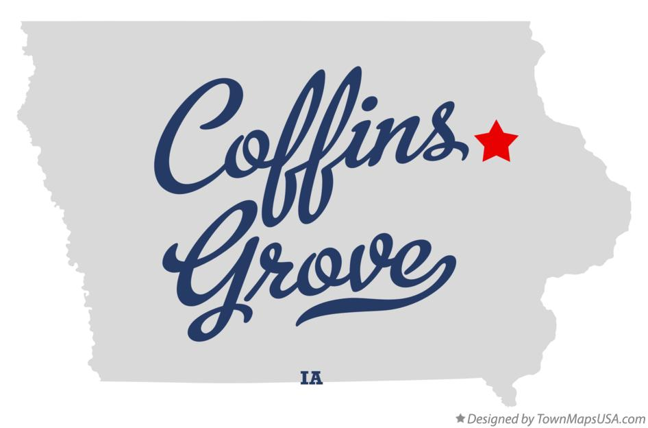 Map of Coffins Grove Iowa IA