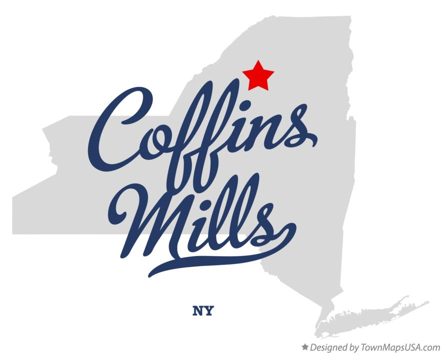 Map of Coffins Mills New York NY