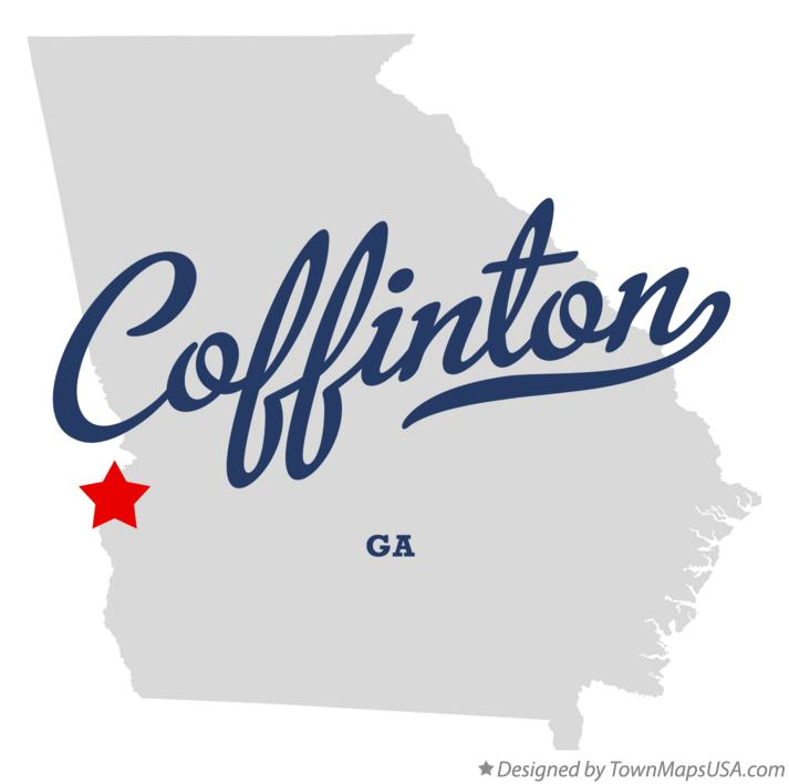 Map of Coffinton Georgia GA
