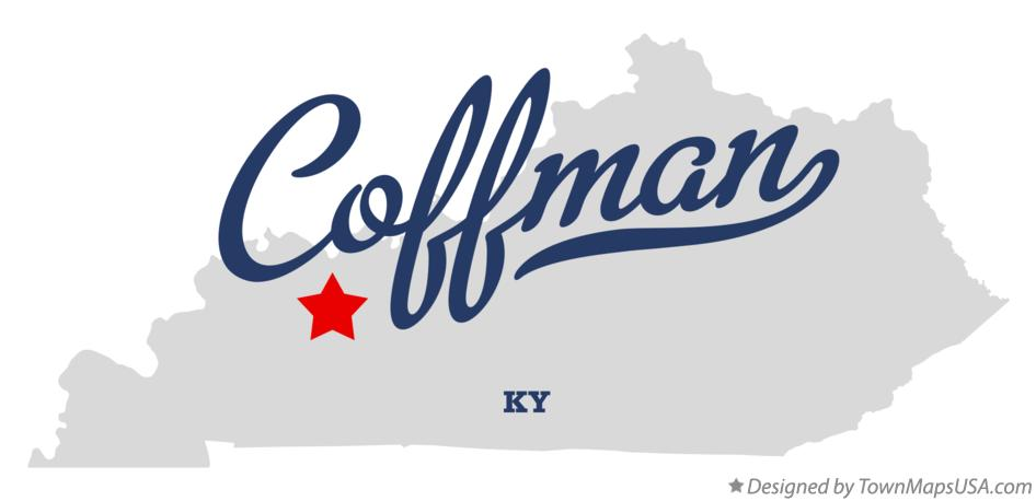 Map of Coffman Kentucky KY