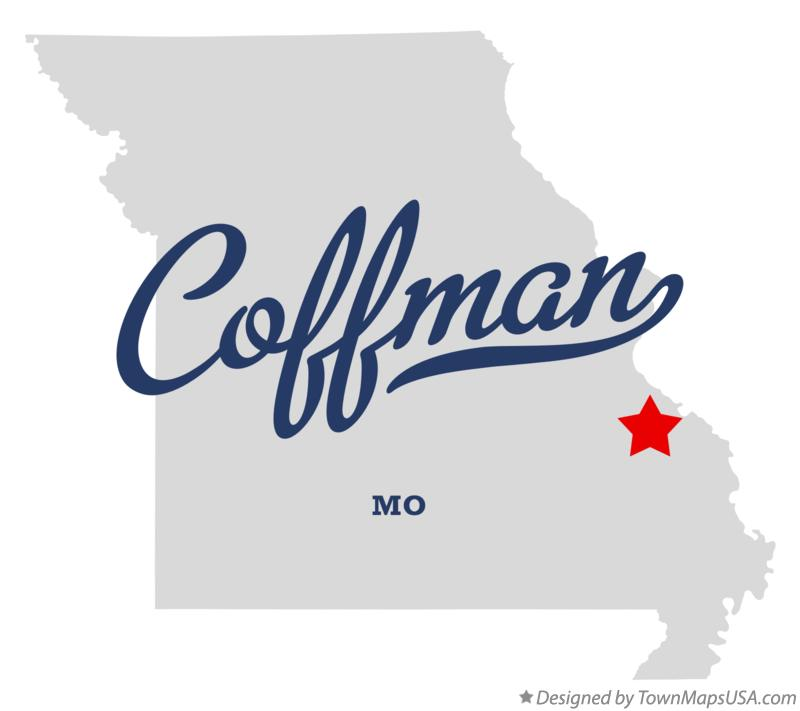 Map of Coffman Missouri MO