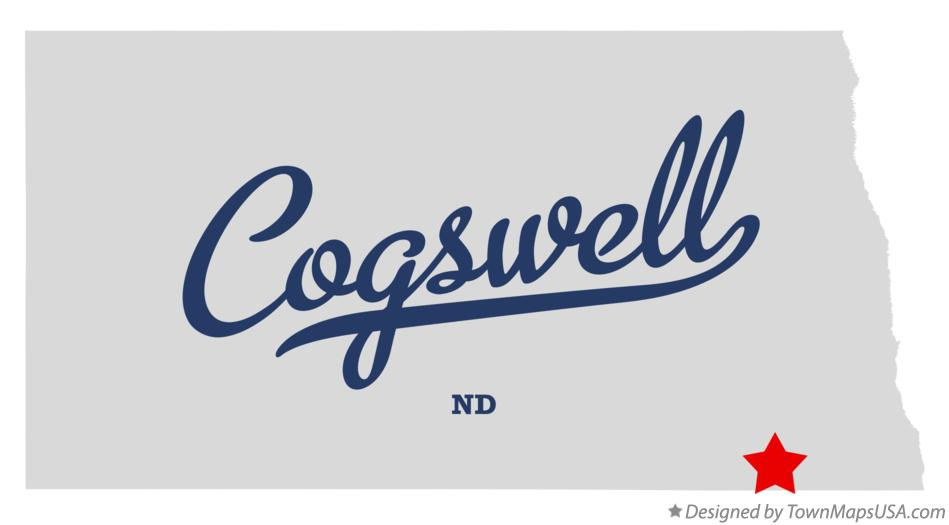 Map of Cogswell North Dakota ND