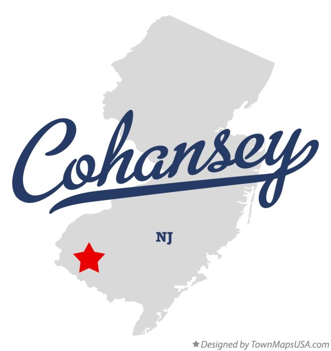 Map of Cohansey New Jersey NJ