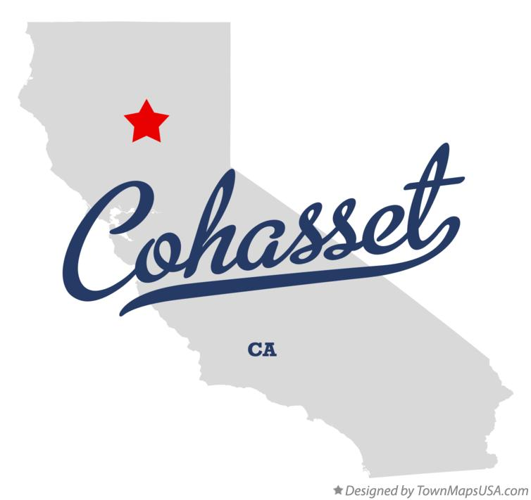 Map of Cohasset California CA