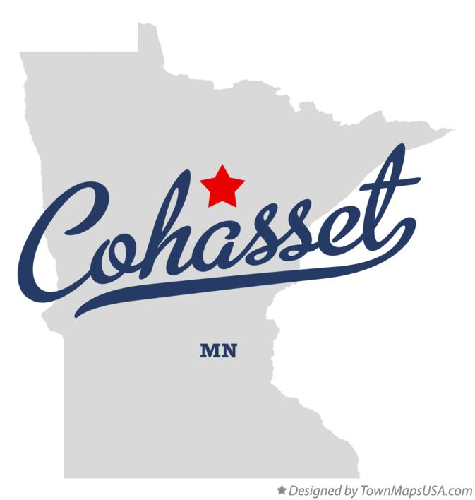 Map of Cohasset Minnesota MN