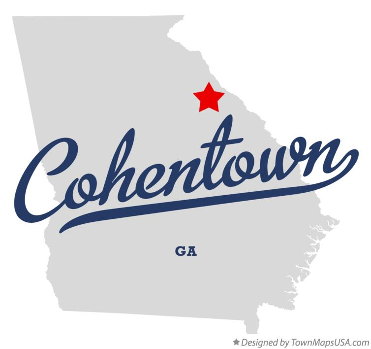 Map of Cohentown Georgia GA