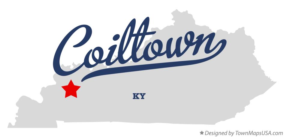 Map of Coiltown Kentucky KY