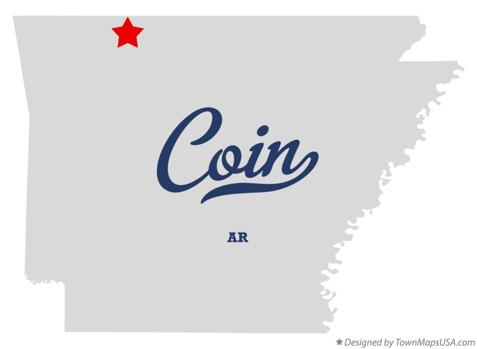 Map of Coin Arkansas AR