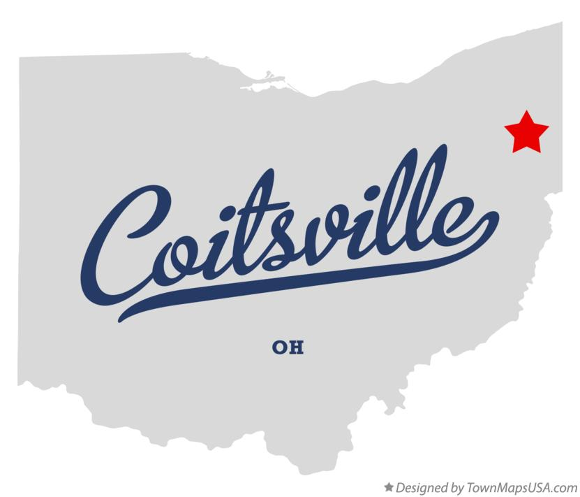 Map of Coitsville Ohio OH