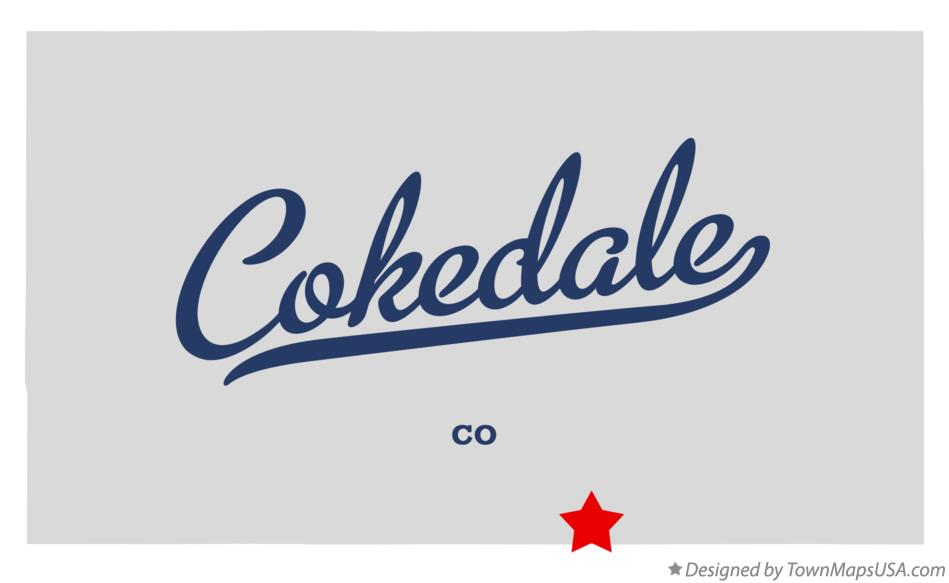 Map of Cokedale Colorado CO