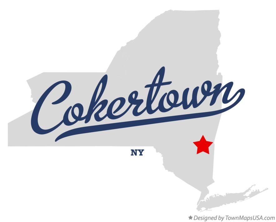 Map of Cokertown New York NY