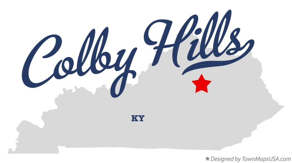 Map of Colby Hills Kentucky KY