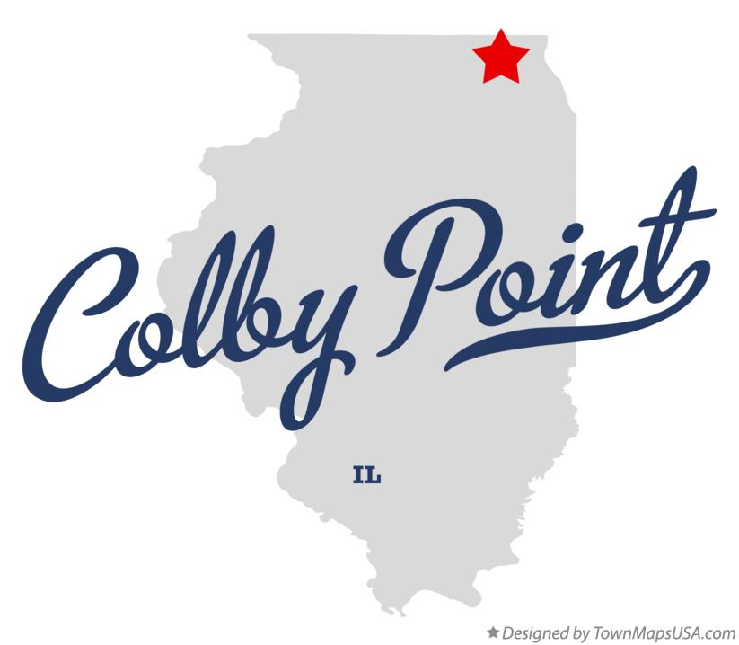 Map of Colby Point Illinois IL