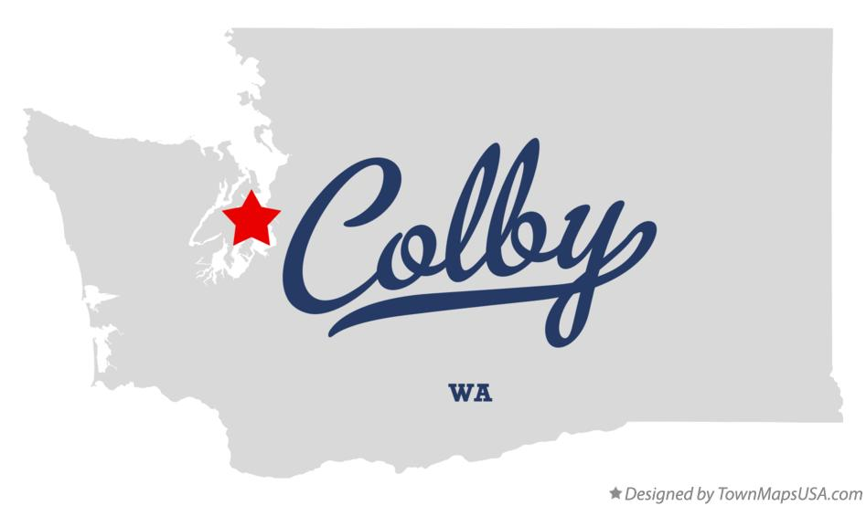 Map of Colby Washington WA