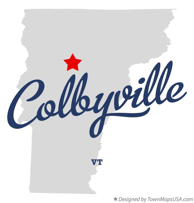 Map of Colbyville Vermont VT