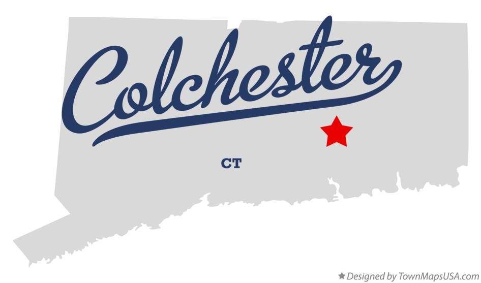 Map of Colchester Connecticut CT