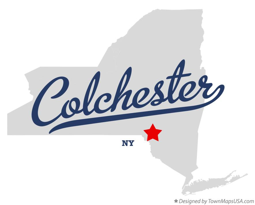 Map of Colchester New York NY