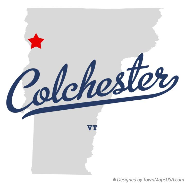 Map of Colchester Vermont VT